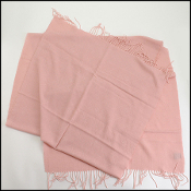 Chanel Pink Cashmere/Silk Fringed Wrap