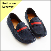 Size 36 Gucci Navy Blue Suede Driving Loafers