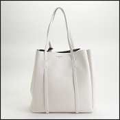 Balenciaga White Calfskin Leather Everyday Tote S Bag