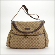 Gucci Brown Monogram Canvas Diaper Bag