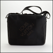 Louis Vuitton Black Damier Geant Laptop Messenger Bag