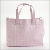Chanel 03'/04' Pink Nylon Travel Line Tote Bag