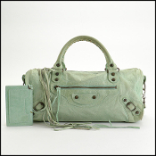 Balenciaga 2007 Vert D' eau Leather Twiggy Bag