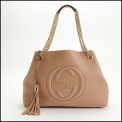 Gucci Light Tan Chain Strap Soho Shoulder Bag
