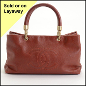 Chanel 03'/04' Terracotta Caviar Leather Timeless Tote Bag