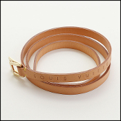 Louis Vuitton Logo Embossed Vachetta Leather Belt (Size Small)
