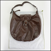 Longchamp Brown Leather Hobo Bag