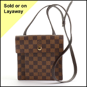 Louis Vuitton 1998 Damier Ebene Pimlico Small Crossbody Bag