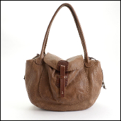 Henry Beguelin Brown Leather Tote/Shoulder Bag