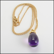 Tiffany & Co. Paloma Picasso 18K Gold/Amethyst Drop Necklace