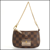 Louis Vuitton 2013 Damier Ebene Mini Pochette Bag