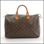 Louis Vuitton LV Monogram Speedy 35 Handbag