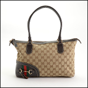 Gucci Monogram Canvas Tassel Tote Bag