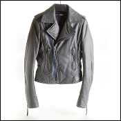 Balenciaga Caviar Grey Leather Biker Jacket (Size 36FR/2US)