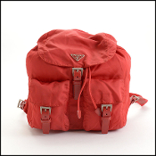 Prada Red Nylon Backpack