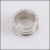 Bvlgari 18K White Gold B.zero1 Ring (Size 5)