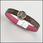 Louis Vuitton Brown/Pink Reversible Monogram Bracelet