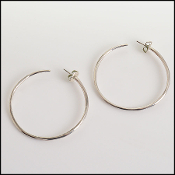 Ippolita Sterling Silver Large Hoop Earrings