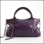 Balenciaga Eggplant Purple Chevre Leather First/Classique Bag