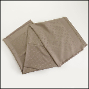 Louis Vuitton Taupe Silk/Wool Shawl Wrap