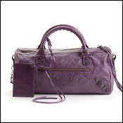 Balenciaga Purple Lambskin Twiggy Bag