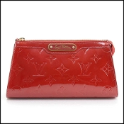 Louis Vuitton Red Vernis Trousse Cosmetic Pouch