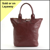 Alexander McQueen Maroon Tall Tote Bag