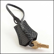 Hermes Navy Lizard Clochette Keybell w/2 Keys