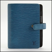 Louis Vuitton Blue Epi Leather Medium Agenda Cover