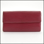 Louis Vuitton Red Epi Leather Sarah Wallet