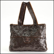 Chanel Bronze Sequins & Beads Trompe L'oeil Evening Bag