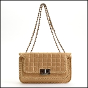 Chanel Matte Gold Leather Reissue Mademoiselle Turnlock Handbag