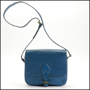 Louis Vuitton Toledo Blue Epi Leather Cartouchiere MM Crossbody