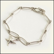Tiffany & Co. Sterling Elsa Peretti Starfish Link Bracelet