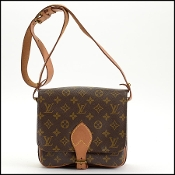 Louis Vuitton LV Monogram Cartouchiere MM Crossbody