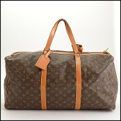Louis Vuitton LV Monogram Sac Souple 55 Boston Bag