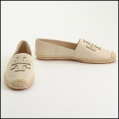 Tory Burch Ivory Leather Espadrilles Size 11