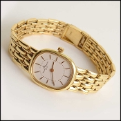 Baume & Mercier 18K Gold Chain Link Wrist Watch